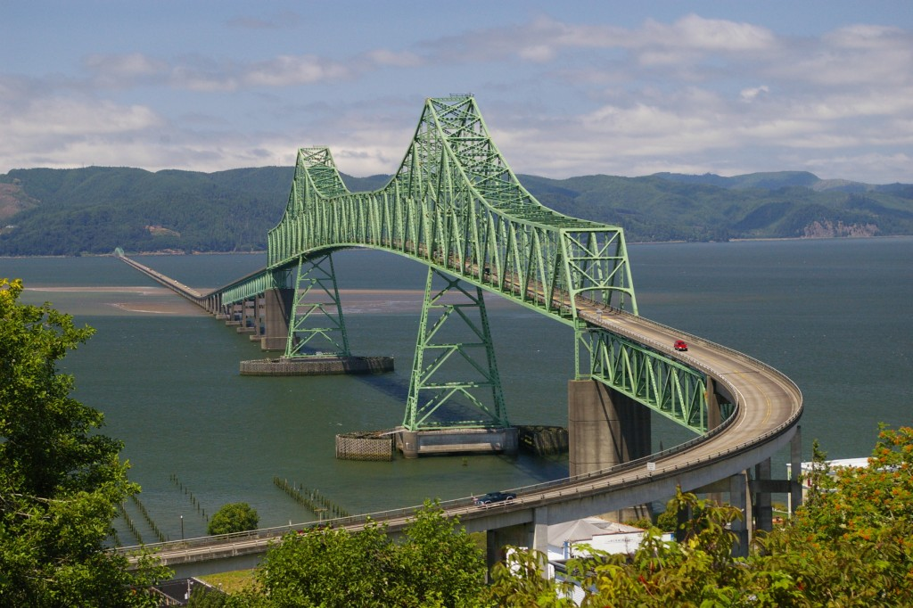 Astoria Bridge at mouth of the Columbia River. Photo by Ron Reiring CC by 2.0