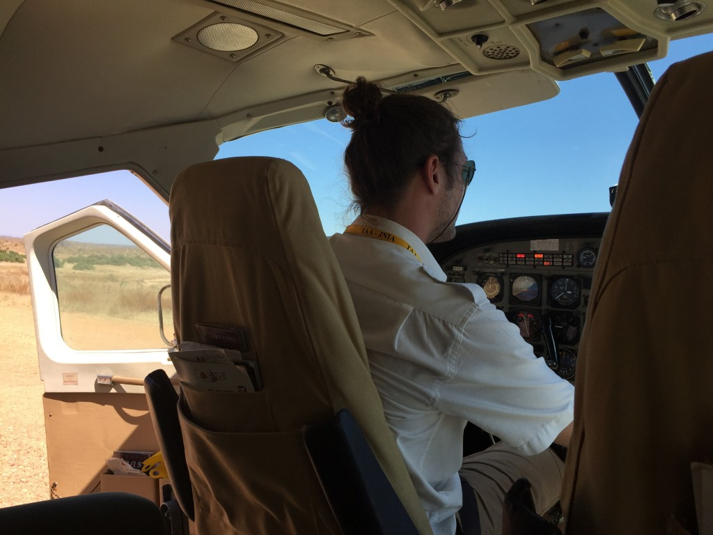 cockpit and open door