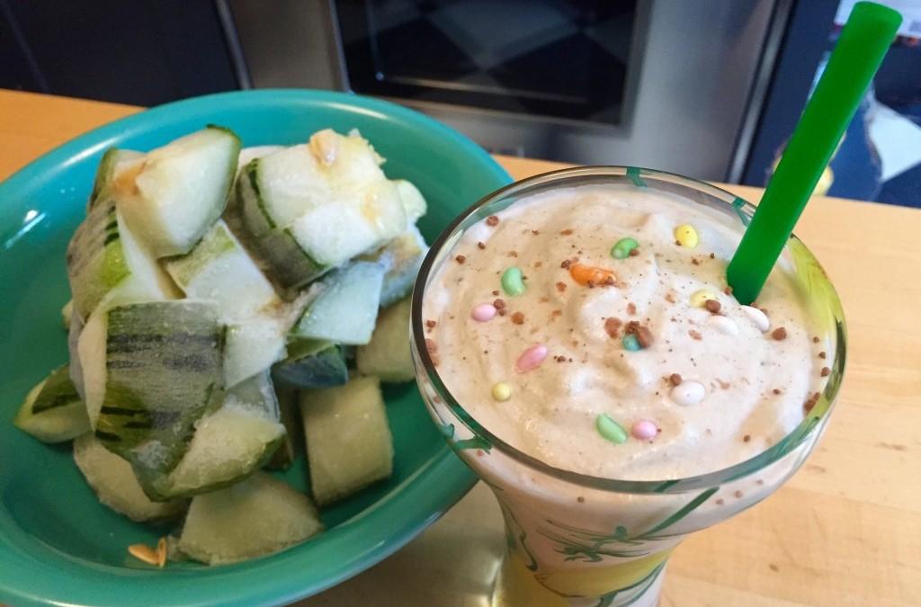 Zucchini Blitz: Vanilla Salted Caramel Breakfast Milkshake