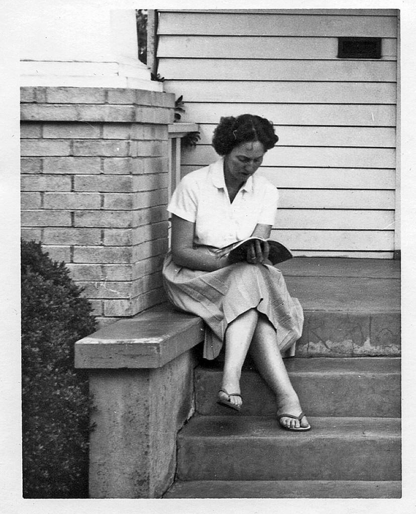 My mom, Josephine, having a rare moment to herself.