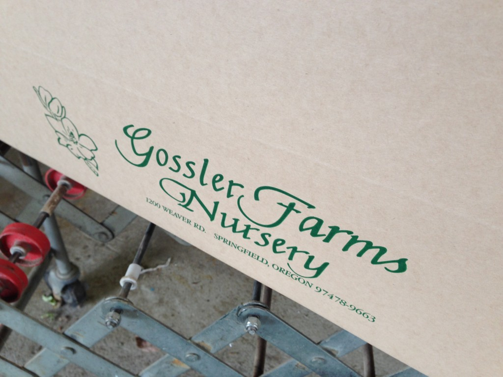Gossler Farms shipping boxes are super sturdy.