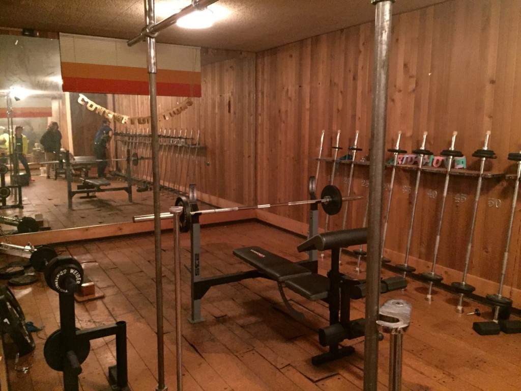 A gym inside a house in the 60s--unheard of, to this little girl. A sauna too.