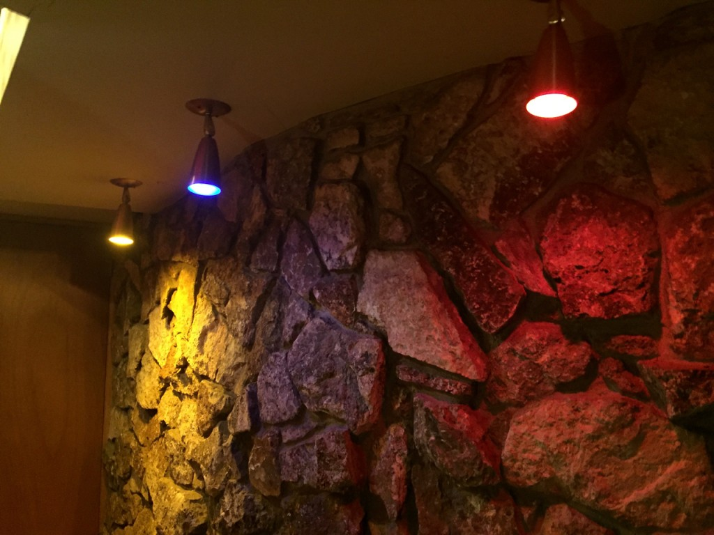 Rock wall entrance to the party room/Tiki Bar.