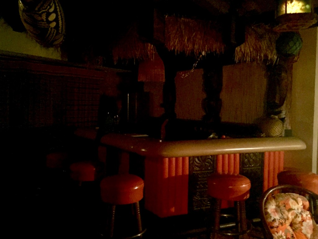 Bar in the Ell house. Lighting not terrific. But you get the idea. Tiki.