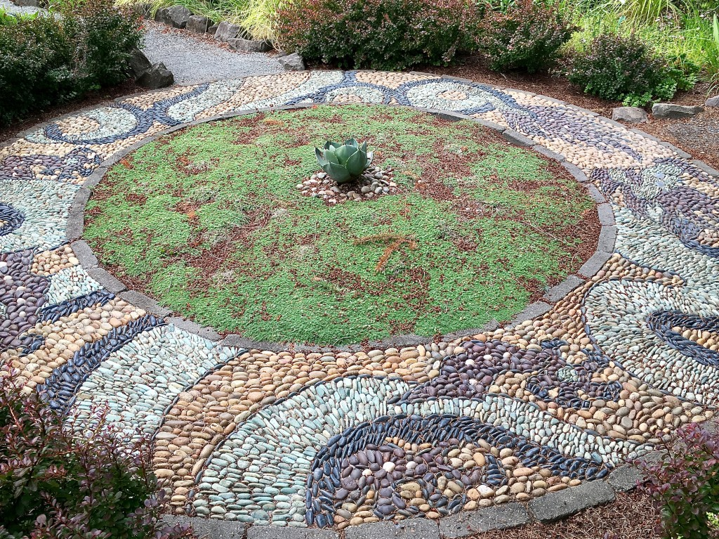 Pebble Mosaic by Jeffrey Bale PDX.