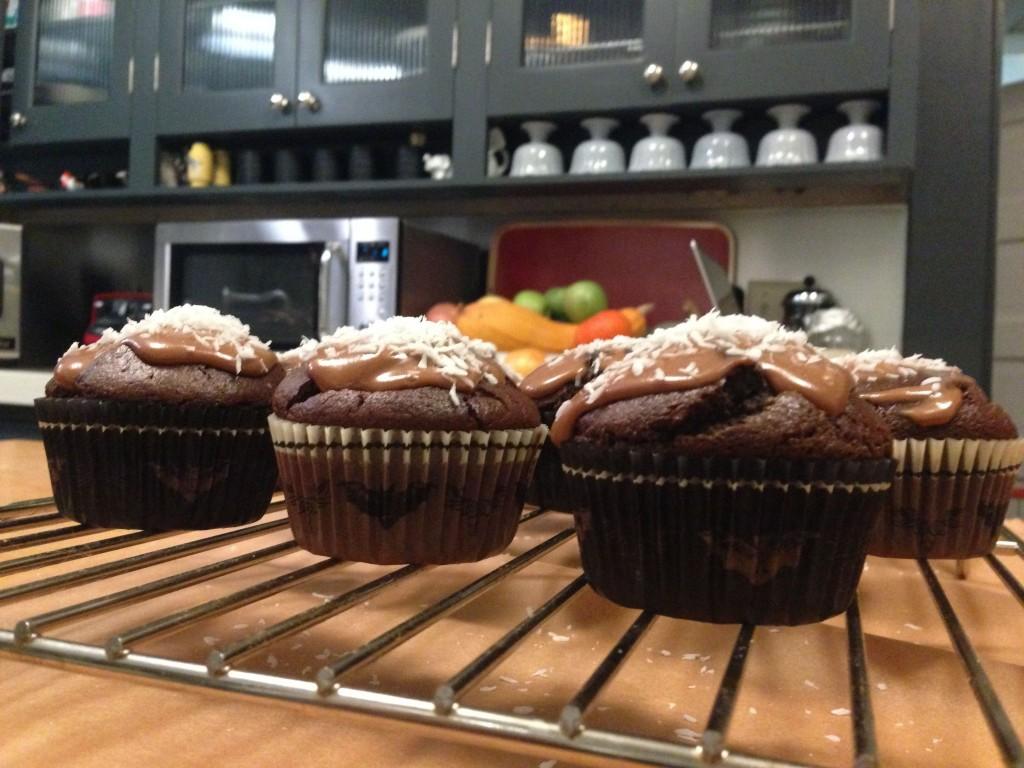 chocolate pumpkin milk cupcake