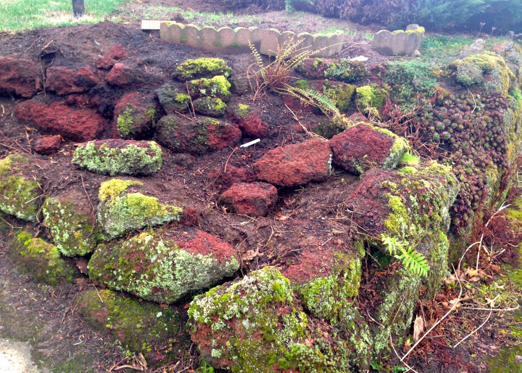 Stumps Gone with rearranged Rocks