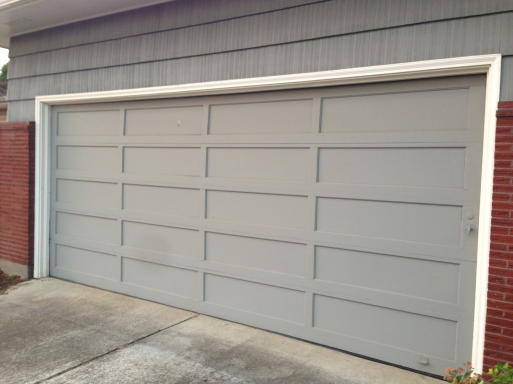 Old garage door with no glass.