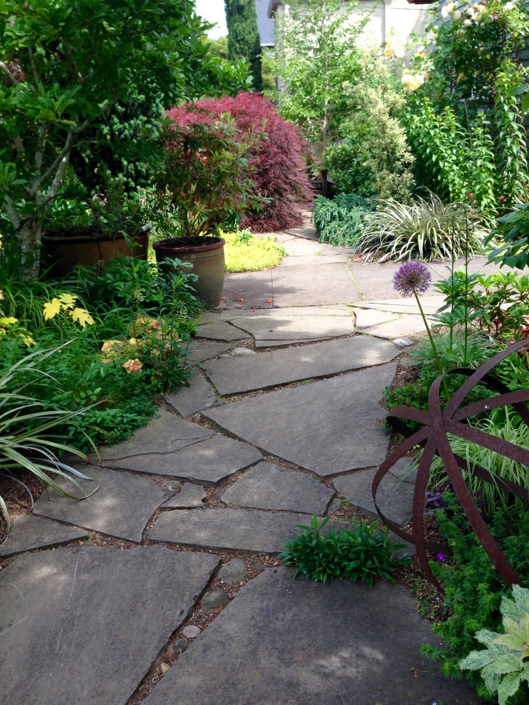 Another view of the front patio. Lush and lovely.