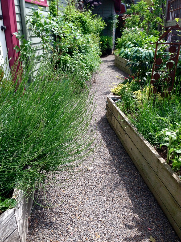 A zig zag raised bed, what a good idea!