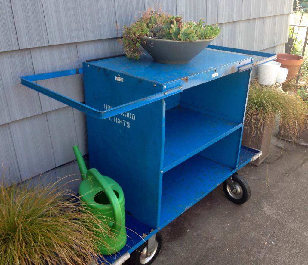 Blue Steel Cart. The potting and drinks cart.