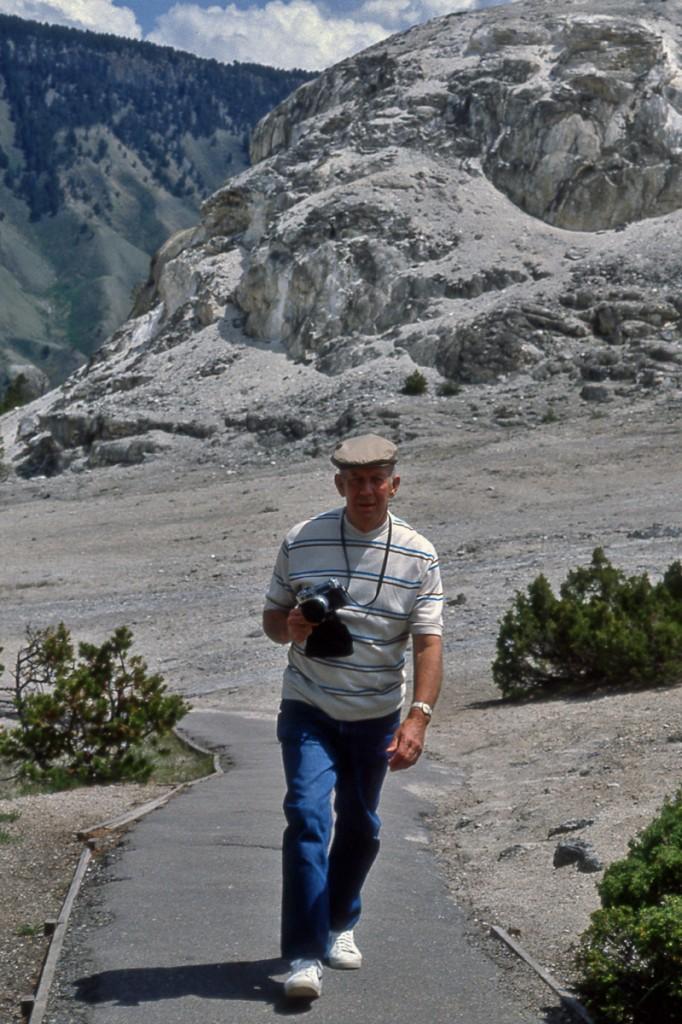 Poppy aka Clovis Edward Cunningham at Yellowstone in 1982.
