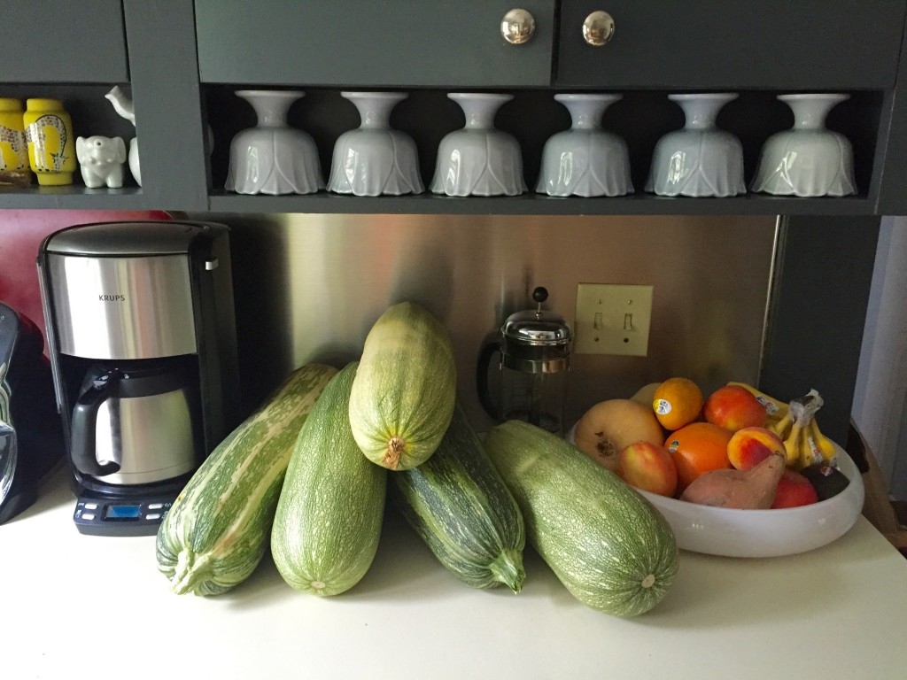 mountain of zucchini