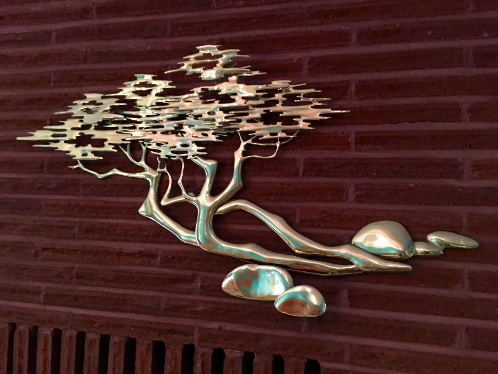 Mid-century brass tree. Now this post is gardenish.