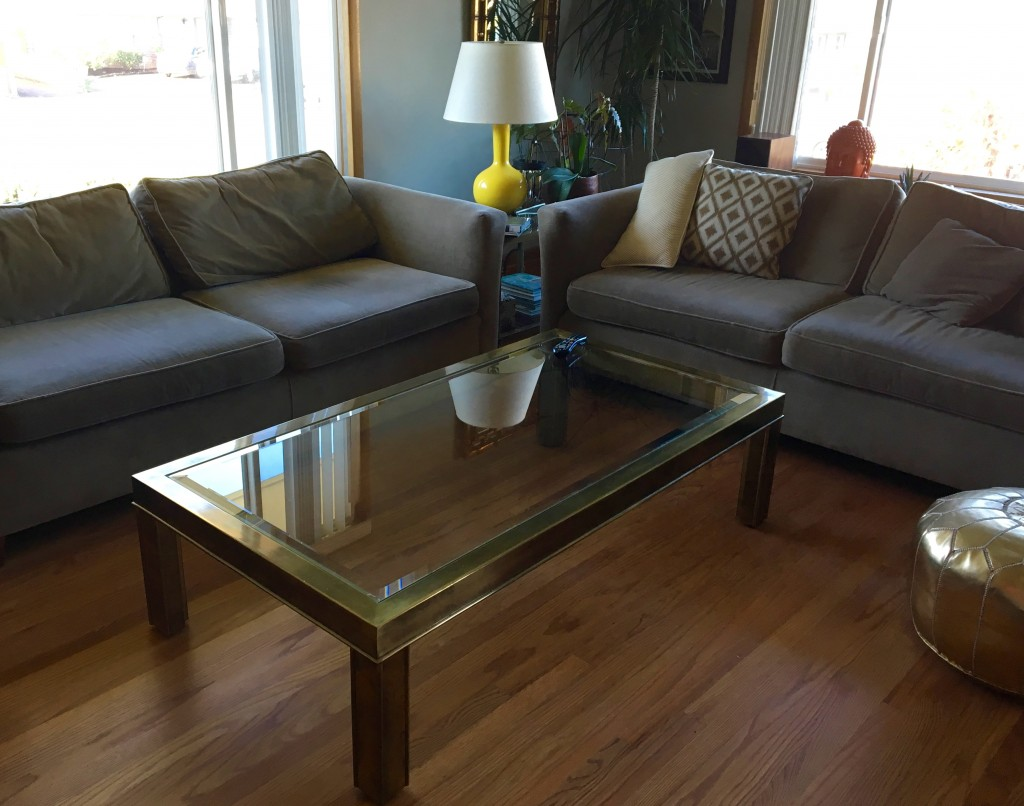 Brass Table found on Craigslist. Original sales slip from the 70s showed $1000.