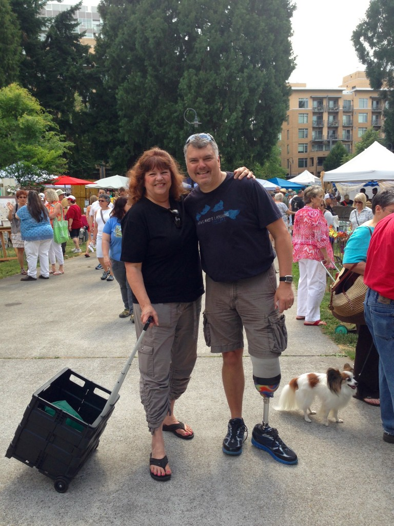 Cathi and Russell at Vancouver Recycled Arts Festival.
